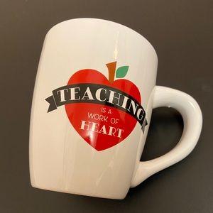 """Teaching is a work of Heart"". Large mug. 750mL.BN"